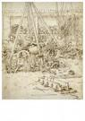 Leonardo da Vinci (1452-1519)  -  Artillerie, 1487 - Postkaart -  A13550-1