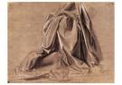 Leonardo da Vinci (1452-1519)  -  Gordijn voor een zittend figuur - Postkaart -  A13557-1