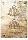 Leonardo da Vinci (1452-1519)  -  Studies Of Central Plan Buildings, 1480 - Postkaart -  A13570-1