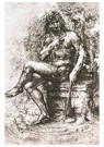 Leonardo da Vinci (1452-1519)  -  Design For St John In The Wilderness 1508-15 - Postkaart -  A13577-1