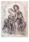 Leonardo da Vinci (1452-1519)  -  Design For St Anne - Postkaart -  A13582-1