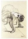 Edgar Degas(1834-1917)  -  Seated Dancer Adjusting Her Shoes - Postkaart -  A13800-1
