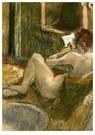 Edgar Degas(1834-1917)  -  Nude From The Rear, Reading - Postkaart -  A14196-1
