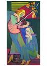 Ernst Ludwig Kirchner(1880-'38 -  Die Violinistin - Postkaart -  A14700-1