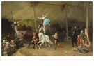 Frederick Arthur Bridgman(1847 -  Un Cirque En Province (The American Circus In France) - Postkaart -  A14987-1