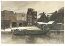 George Hendrik Breitner(1857-  -  Het Prinseneiland: De Teertuinen In De Winter, Amsterdam - Postkaart -  A15314-1
