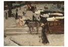 George Hendrik Breitner(1857-  -  Paardentrams En Figuren Op Een Plein - Postkaart -  A15323-1