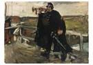 George Hendrik Breitner(1857-  -  De Hoorn Blazen - Postkaart -  A15351-1