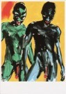 Luciano Castelli (1951)  -  Castelli/ Yellow men/ Shaf - Postkaart -  A1538-1