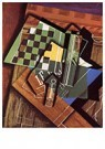 Juan Gris(1887-1927)  -  The Checkerboard - Postkaart -  A15690-1