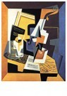 Juan Gris(1887-1927)  -  Violin And Glass I - Postkaart -  A15712-1