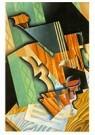 Juan Gris(1887-1927)  -  Violin And Glass - Postkaart -  A15715-1