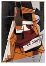 Juan Gris(1887-1927)  -  Bottle, Newspaper And Fruit Bowl - Postkaart -  A15763-1