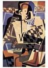 Juan Gris(1887-1927)  -  Harlequin With A Guitar - Postkaart -  A15770-1