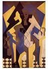 Juan Gris(1887-1927)  -  Harlequin At A Table - Postkaart -  A15779-1