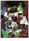Juan Gris(1887-1927)  -  Fruit Bowl, Pipe And Newspaper - Postkaart -  A15832-1