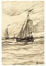 Hendrik W. Mesdag (1831-1915)  -  Schepen Aan De Kust - Postkaart -  A16128-1