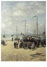 Hendrik W. Mesdag (1831-1915)  -  Signalering Van De Boten, Scheveningen - Postkaart -  A16129-1