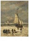 Hendrik W. Mesdag (1831-1915)  -  Lossen Van De Vangst - Postkaart -  A16153-1