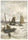 Hendrik W. Mesdag (1831-1915)  -  Aankomst Van De Vissersvloot - Postkaart -  A16166-1