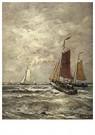 Hendrik W. Mesdag (1831-1915)  -  Bomschuiten In De Branding, Scheveningen - Postkaart -  A16180-1