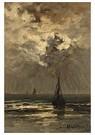 Hendrik W. Mesdag (1831-1915)  -  Een Kalme Zee Bij Zonsondergang - Postkaart -  A16182-1