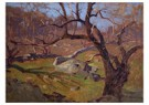Isaac Levitan(1860-1900)  -  Uitzicht in de buurt van Jalta - Postkaart -  A16207-1