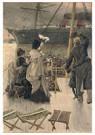 James Tissot(1836-1902)  -  Goodbye, On The Mersey - Postkaart -  A16349-1