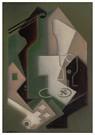 Juan Gris(1887-1927)  -  Bouteille, Pipe Et Cartes A Jouer - Postkaart -  A16434-1
