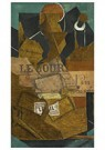 Juan Gris(1887-1927)  -  Tabac, Journal Et Bouteille De Vin Rosé - Postkaart -  A16454-1