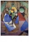 Juan Gris(1887-1927)  -  Bottle Of Rum And Newspaper - Postkaart -  A16464-1
