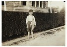 Lewis Hine(1874-1940)  -  Six Year Old Newsboy. Raymond Miller. Many Of These Here Ran - Postkaart -  A16718-1