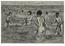 Max Liebermann(1847-1935)  -  Jongens baden - Postkaart -  A17170-1