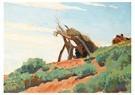 Maynard Dixon(1875-1946)  -  Navajo Sun Shelter (No. 85) - Postkaart -  A17193-1