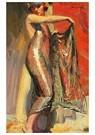 Maynard Dixon(1875-1946)  -  Flapper Girl - Postkaart -  A17230-1