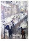 Edvard Munch(1863-1944)  -  Street In Winter - Postkaart -  A17439-1