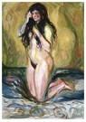Edvard Munch(1863-1944)  -  Kneeling Nude - Postkaart -  A17599-1