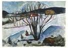 Edvard Munch(1863-1944)  -  Winter Night - Postkaart -  A17784-1