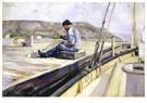 Edvard Munch(1863-1944)  -  Man Binding Fishnet - Postkaart -  A17811-1