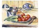 Edvard Munch(1863-1944)  -  Stilleven met tomaten, prei en stoofschotels - Postkaart -  A17822-1