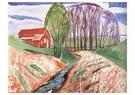 Edvard Munch(1863-1944)  -  The Red House - Postkaart -  A17917-1