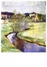 Edvard Munch(1863-1944)  -  Norwegian Spring Landscape - Postkaart -  A17977-1