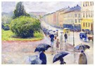 Edvard Munch(1863-1944)  -  Karl Johan In The Rain - Postkaart -  A18008-1