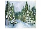 Edvard Munch(1863-1944)  -  New Snow - Postkaart -  A18187-1