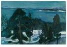 Edvard Munch(1863-1944)  -  Winter Night - Postkaart -  A18189-1