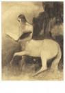 Odilon Redon(1840-1916)  -  Centaure Lisant - Postkaart -  A18518-1