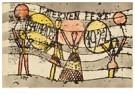 Paul Klee(1879-1940)  -  Laternenfest Bauhaus - Postkaart -  A18630-1