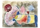 Paul Klee(1879-1940)  -  Liegende Frau - Postkaart -  A18632-1