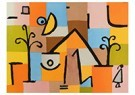 Paul Klee(1879-1940)  -  Abstract With Figure, Trees, & House - Postkaart -  A18676-1