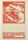 Fré Cohen (1903-1943)  -  Prentbriefkaart voor de Stadsreiniging Amsterdam, - Postkaart -  A1895-1